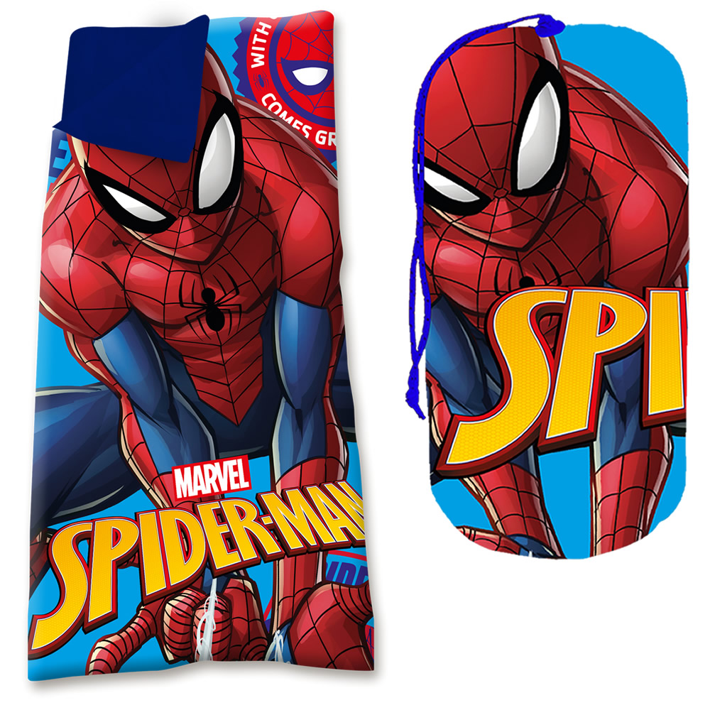 Spiderman Bettwäsche Schlafsack Kinder Camping Spiderman