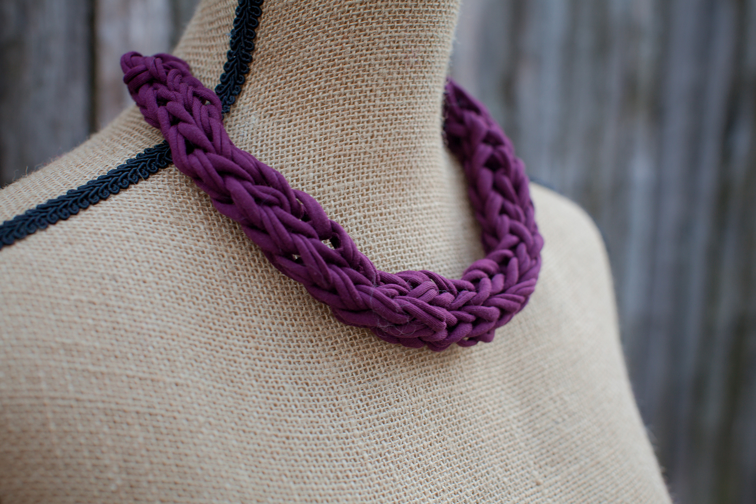 Kbn Plum Necklace Knits By Nikki
