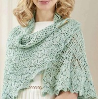 Circular lace shawl knitting pattern