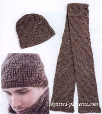 Free crochet men's hat and scarf patterns
