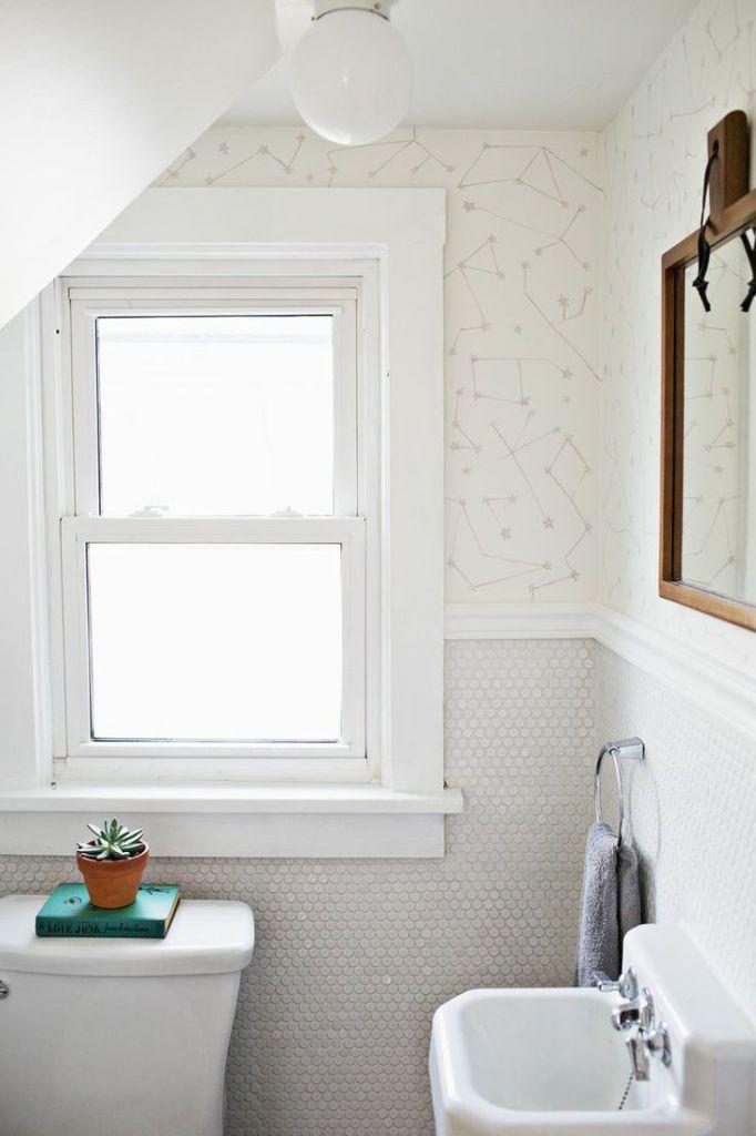 bathroom constellations: knittedbliss.com