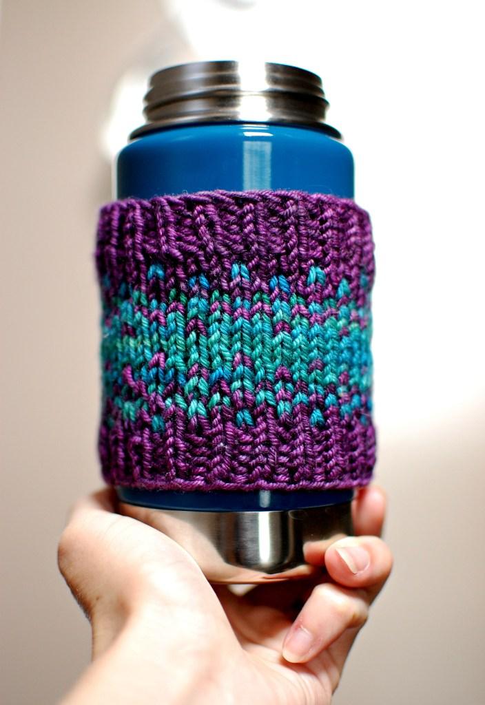 coffee cozy| knittedbliss.com