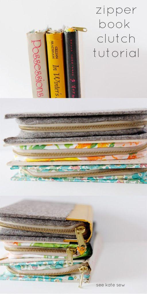 Pin Ups: Sewn Book Clutch  knittedbliss.com