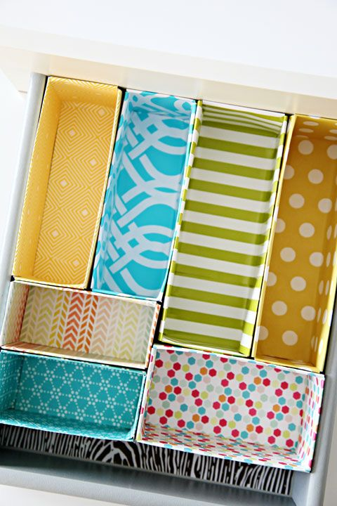 Pin Ups: DIY organized Drawers | knittedbliss.com