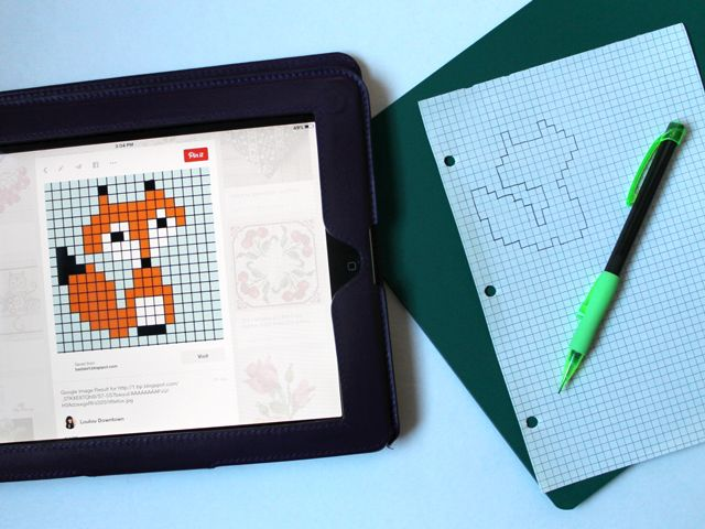 Pin Ups and Link Love: How to Cross Stitch on Paper | knittedbliss.com