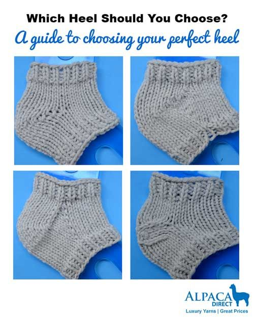 Pin Ups and Link Love: How to Choose a Sock Heel | knittedbliss.com