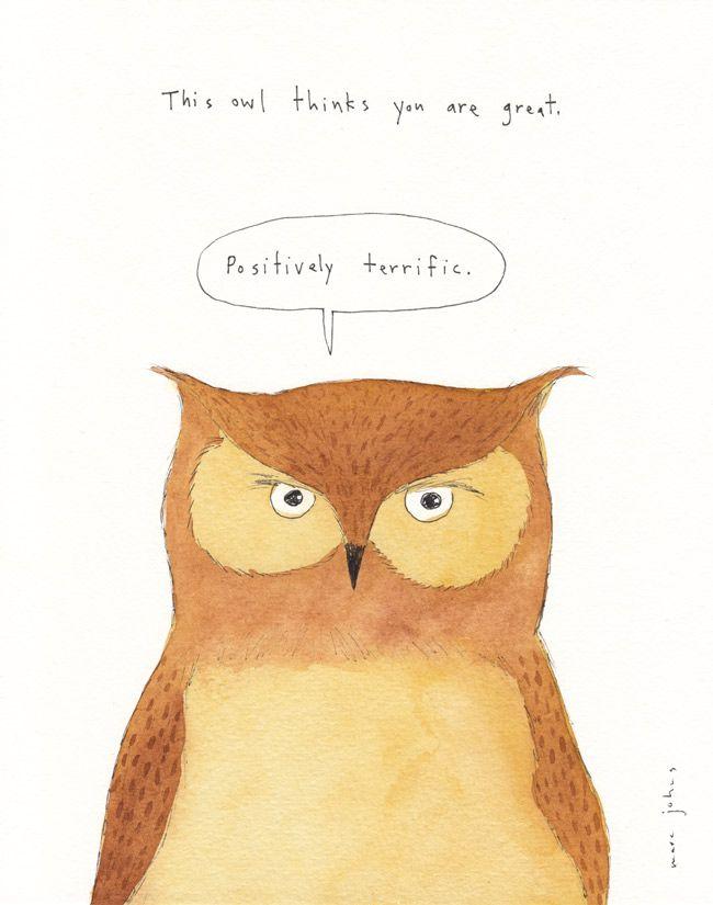 Pin Ups and Link Love: Owl Print | knittedbliss.com