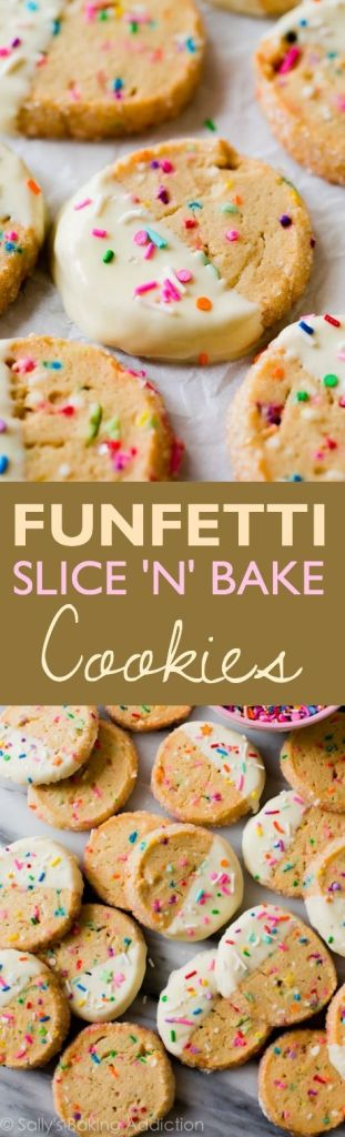 Pin Ups and Link Love: Funfetti Slice and Bake Cookies | knittedbliss.com