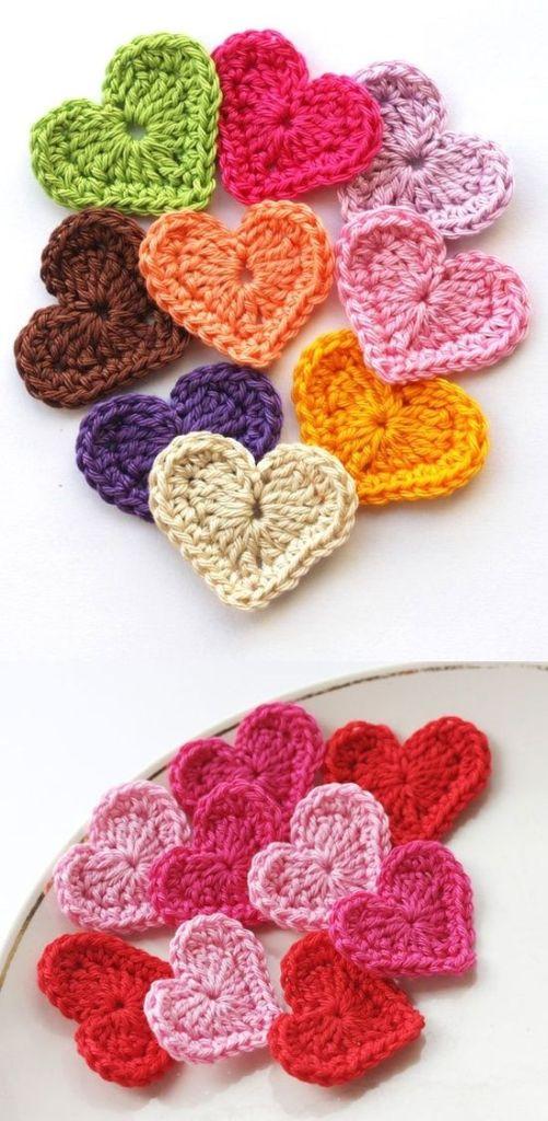 Pin Ups and Link Love: Crochet Heart Tutorial