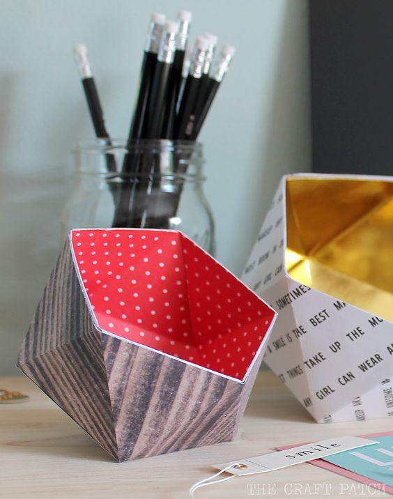 Pin Ups and Link Love: DIY Geometric Bowls | knittedbliss.com
