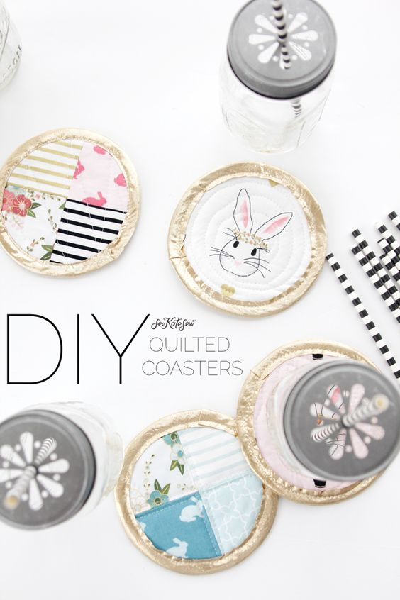 Pin Ups and Link Love: DIY Quilted Coasters | knittedbliss.com