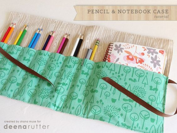 Pin Ups and Link Love: Simple Sewn Notebook Case | knittedbliss.com