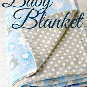 Pin Ups and Link Love: Easy Flannel Baby Blanket| knittedbliss.com