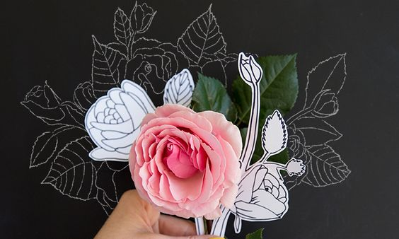 Pin Ups and Link Love: How to Draw a Rose | knittedbliss.com