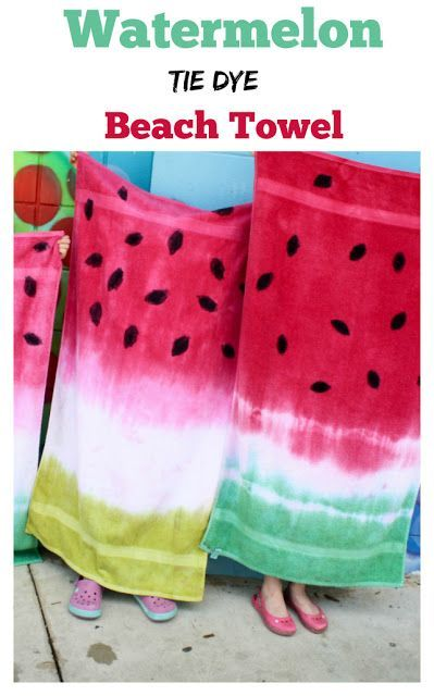 Pin Ups and Link Love: DIY watermelon Towels| knittedbliss.com