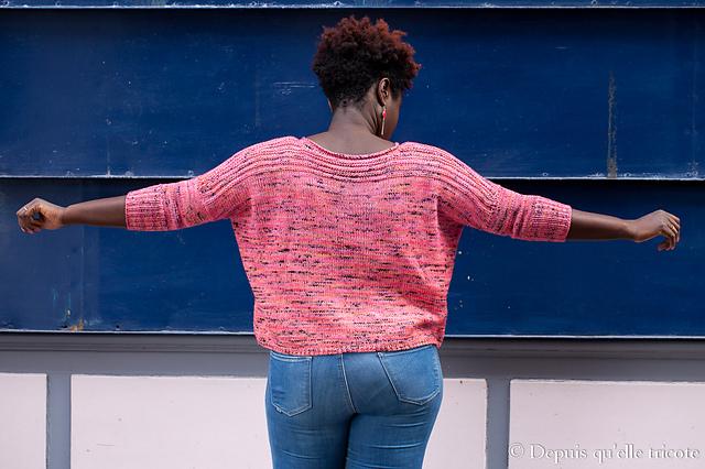 Modification Monday: Peach modified Boxy   knittedbliss.com