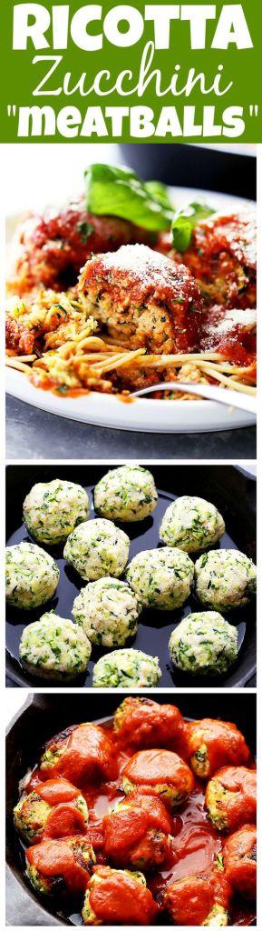 Pin Ups and Link Love: Ricotta Zucchini Meatballs | knittedbliss.com
