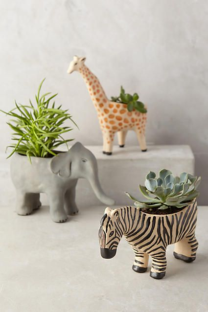 Pin Ups and Link Love: Wildlife Planters| knittedbliss.com