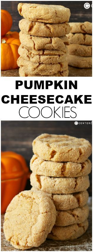 Pin Ups and Link Love: Pumpkin Cheesecake Cookies | knittedbliss.com