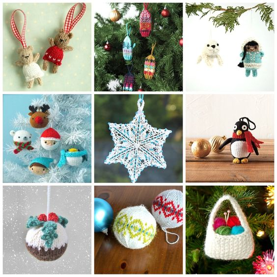Pin Ups and Link Love: Best Knitted Decorations | knittedbliss.com
