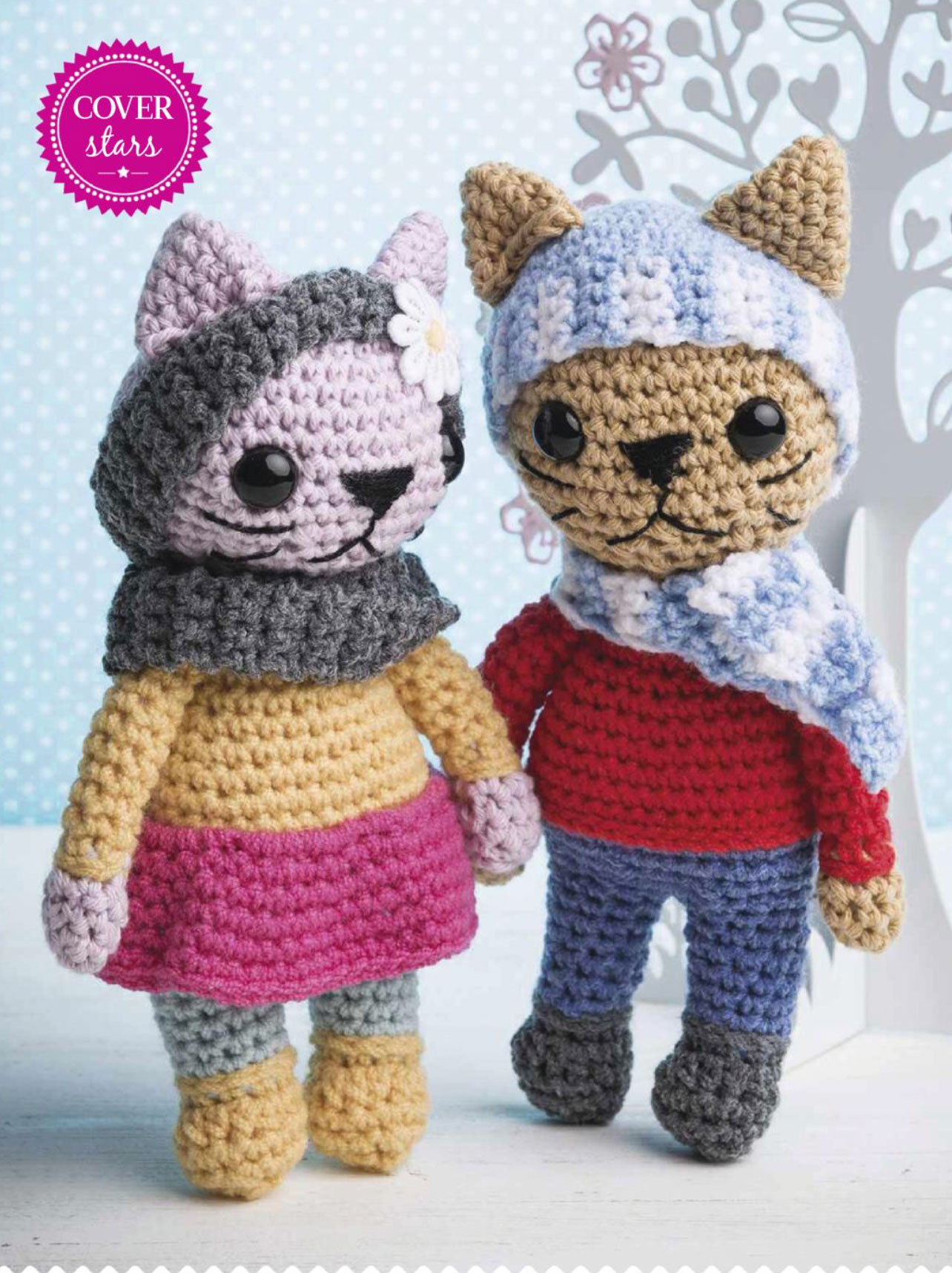 Cool Kitty Toys Crochet Cats Knitting Bee