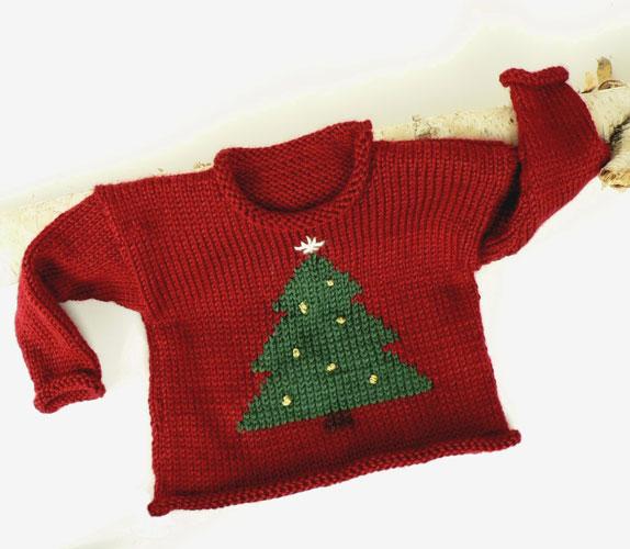 Free Seasonal Toddler Sweater Pattern from Caron   Knitting