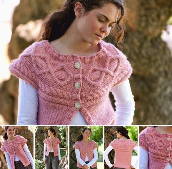 Beginner Baby Knitting Patterns : Free Pattern, Toboggan Sideways Cardigan   Knitting