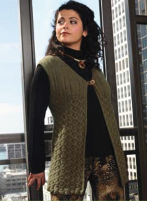 Knitting Patterns With Two Colors : Free Pattern   Vest from Naturally Yarns   Knitting