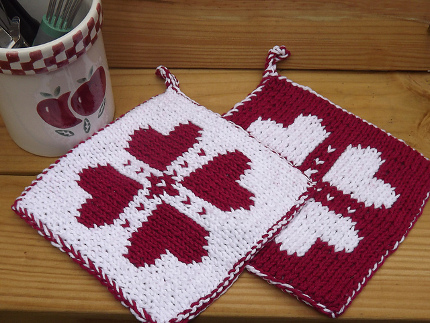 dobule knit potholder lauras knits