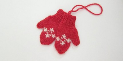mitten ornament just crafty enough