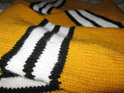 school spirit striped scarf