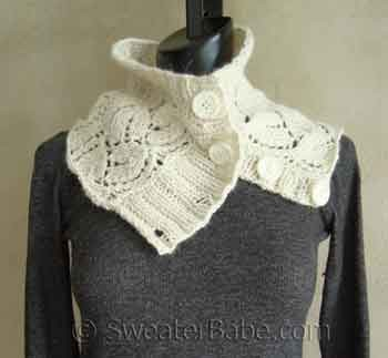 button cowl sweater babe