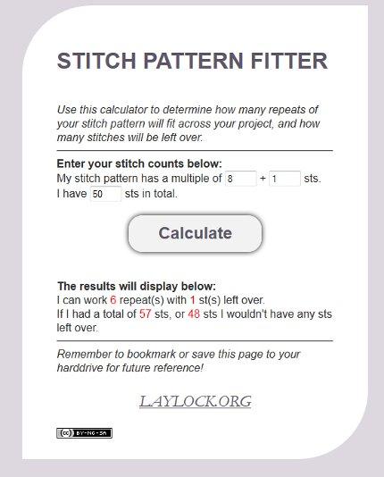 Knitting Pattern Calculator : Pin of the Week: An Awesome Stitch Pattern Calculator   Knitting