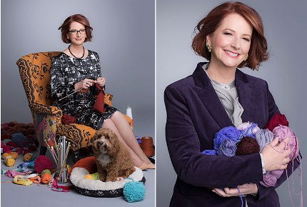 julia gillard knitting