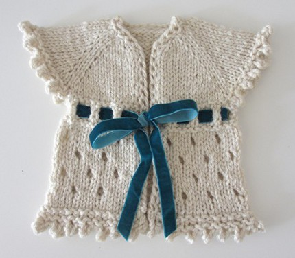 Free Pattern: Adorable, Quick Baby Sweater   Knitting
