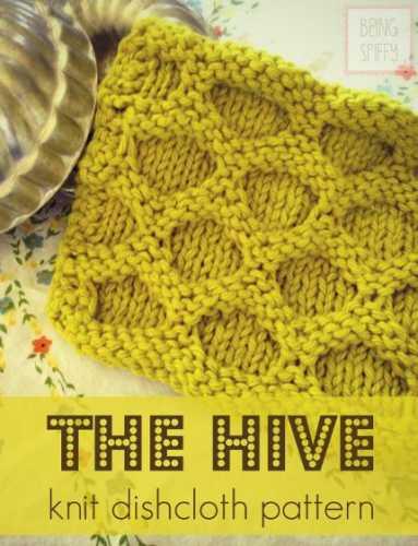 Beehive Knitting Patterns : Free Knitting Pattern: The Hive Knit Dishcloth   Knitting