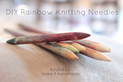 colored knitting needles