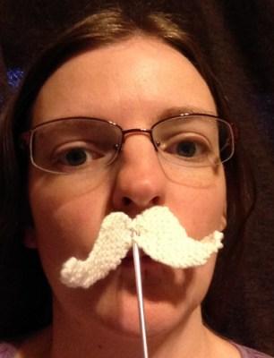 knit moustache