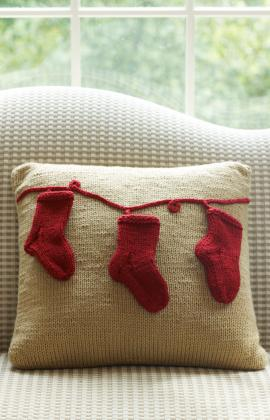 red heart stocking pillow