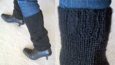 easy knit legwarmers