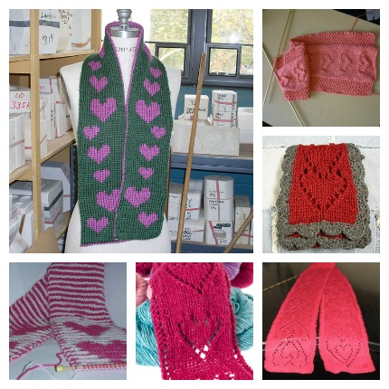 heart scarf knitting patterns