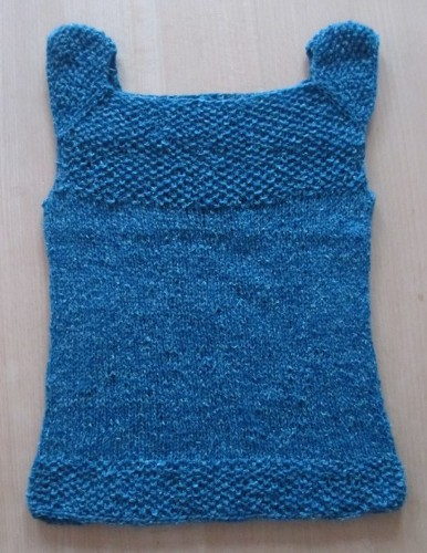 kids singlet knitting pattern