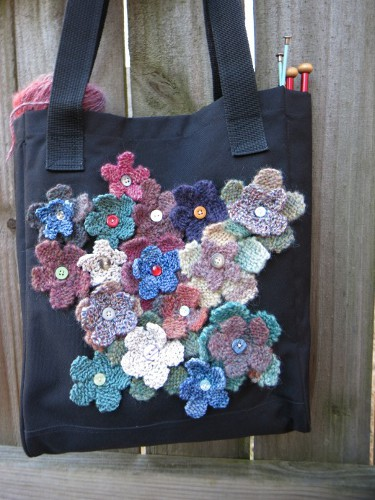 flower tote purl3agony