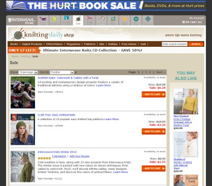 don't miss interweave's hurt book sale