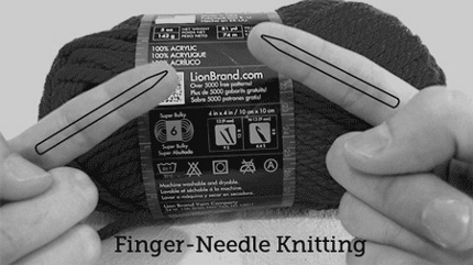 finger knitting david babcock