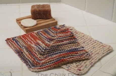learn to knit mitered squares with this washcloth pattern
