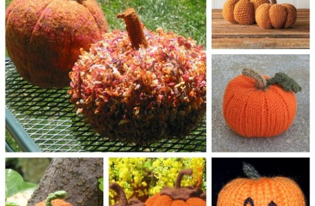 Knit a patch of pumpkins with these free patterns.