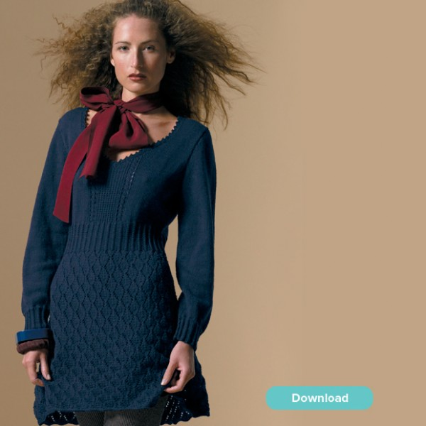 Free patterns for knit sweater dresses