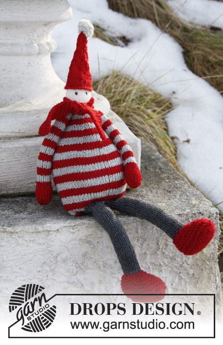 Knit Julius the elf and other great Christmas patterns from DROPS Design.