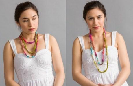 knit bead necklace knitting pattern